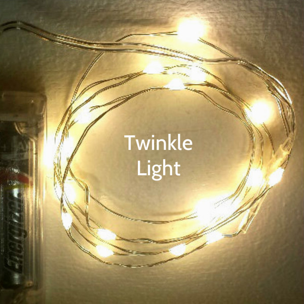 20 Twinkle Fairy Lights on Silver Wire