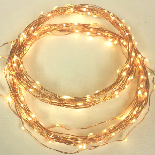 200 Warm White Fairy Lights On Two 16 5 Foot Strands