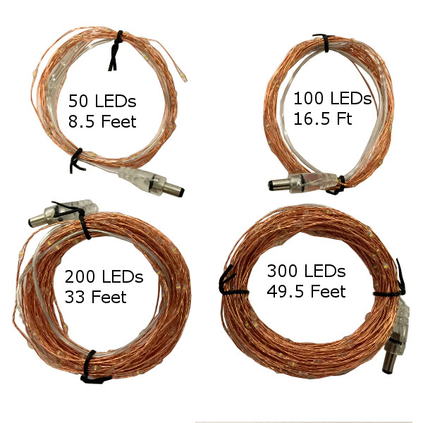 DC Connector Wire Choices Available