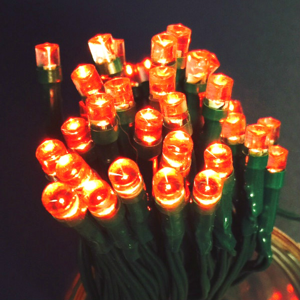Red Green Or Blue Leds On Green Wire With Aa Battery Pack