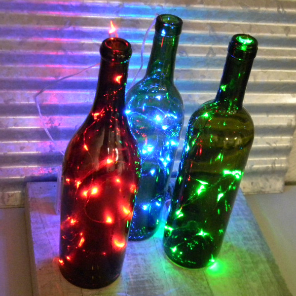 18 colorful fairy lights on 3 foot copper wire powered by. Black Bedroom Furniture Sets. Home Design Ideas
