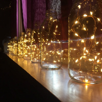 100 Warm White Fairy Lights on Silver or Copper Wire