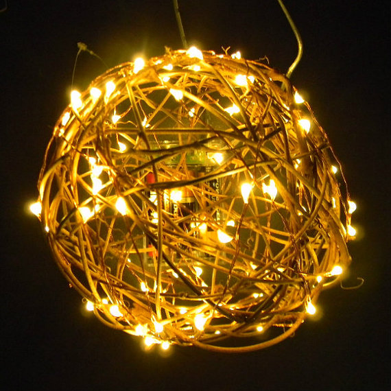 50 Fairy Lights on 9-ft string lights of copper or silver wire. Battery-operated with timer for ...