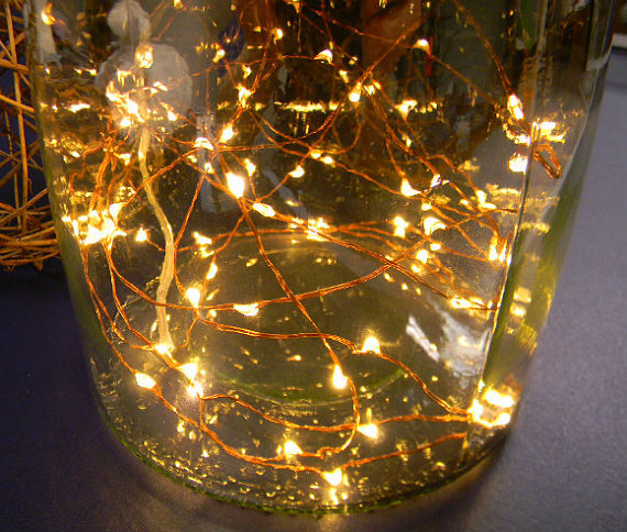 100 warm white Fairy Lights on Copper Wire