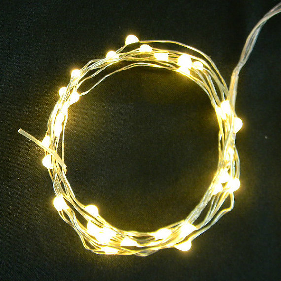 Warm White Fairy Lights on Copper Wire