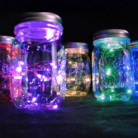 10 Colorful LEDs on Copper Wire