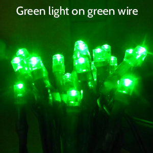 Green LEDs on Green Wire