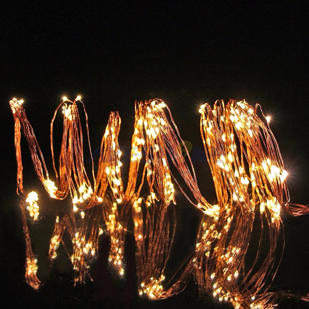 Five 6-Ft Copper Wires with 20 Fairy Light per Wire