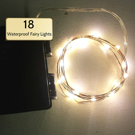 18 Warm White Fairy Lights On 3 Foot Copper Wire Powered