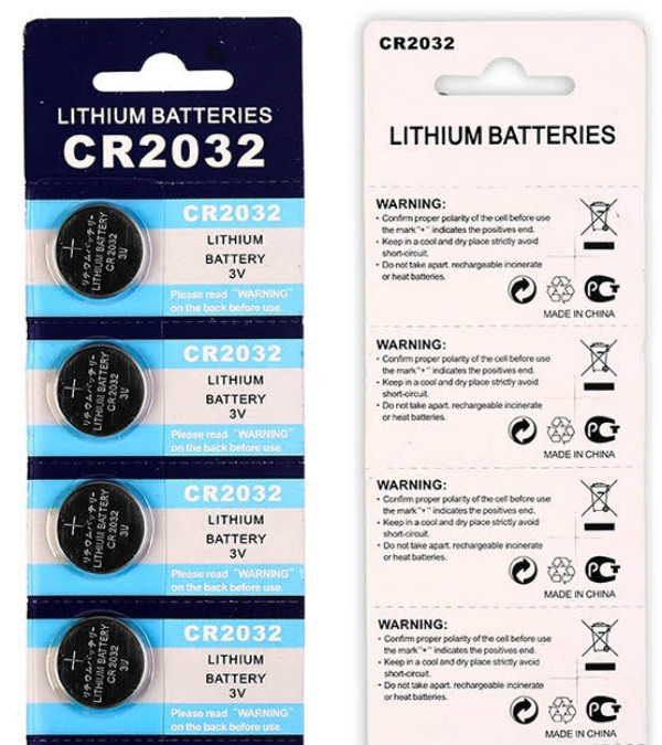 4-Pack of CR2032 Batteries