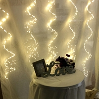 1800 Fairy Lights on Silver Wire