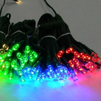 Red, Green, or Blue LEDs on Green Wire